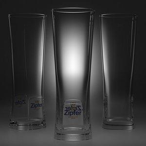 beer glass 4 3D model