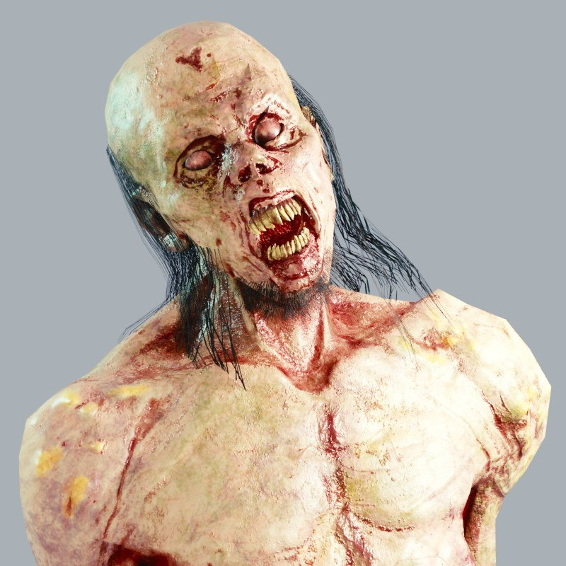 3D zombie abomination model