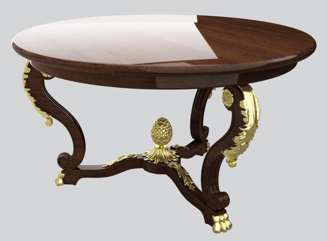 classic table furniture 3D model