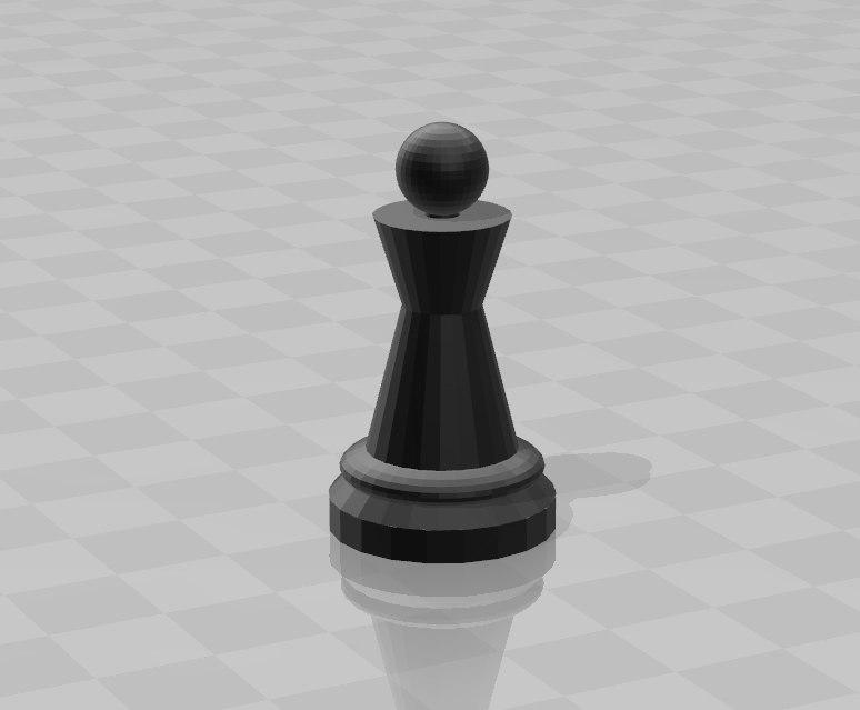 pawn 3D model