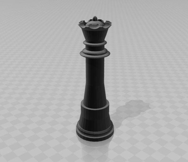 3D queen model