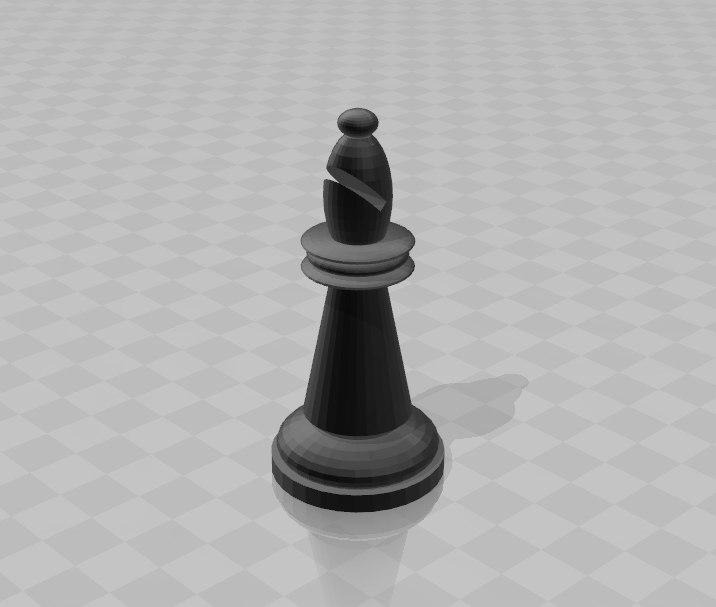 3D model bishop
