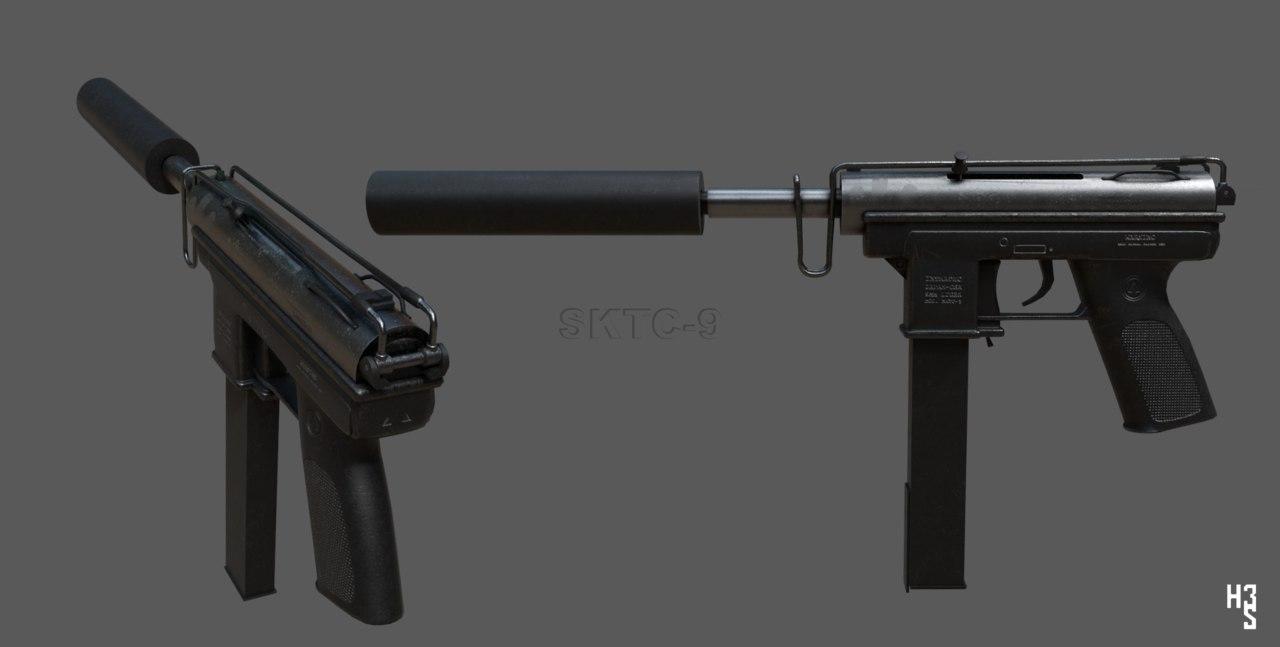 weapons tec-9 9mm 3D
