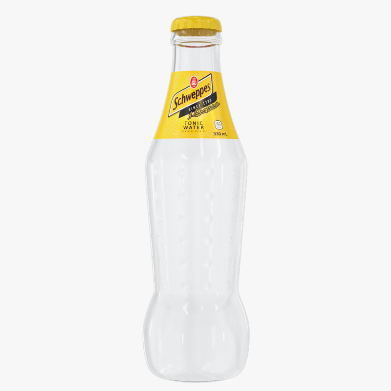 schweppes drink bottle 3D