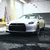 Car 004 - Nissan GT-R R35 with Garage