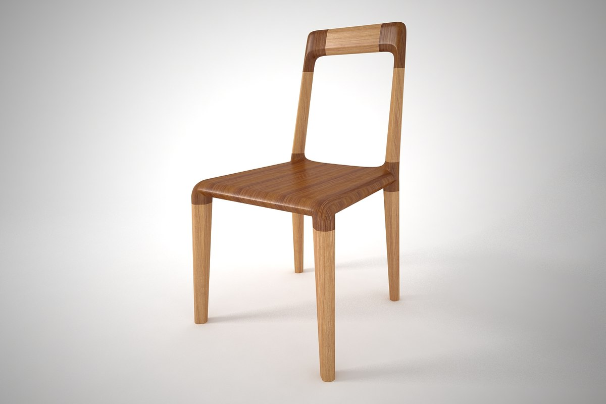 3D furniture chair dinning model