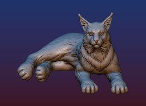 lynx print ready 3D model