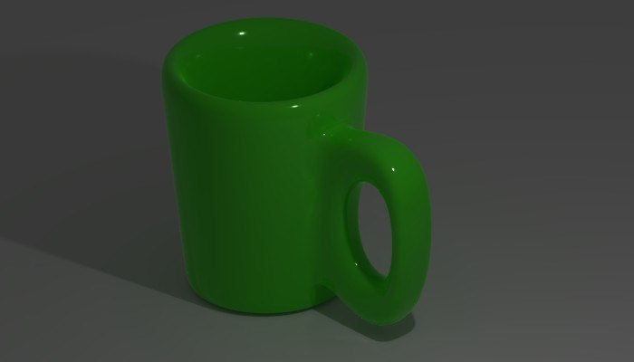 3D cup ceramic model