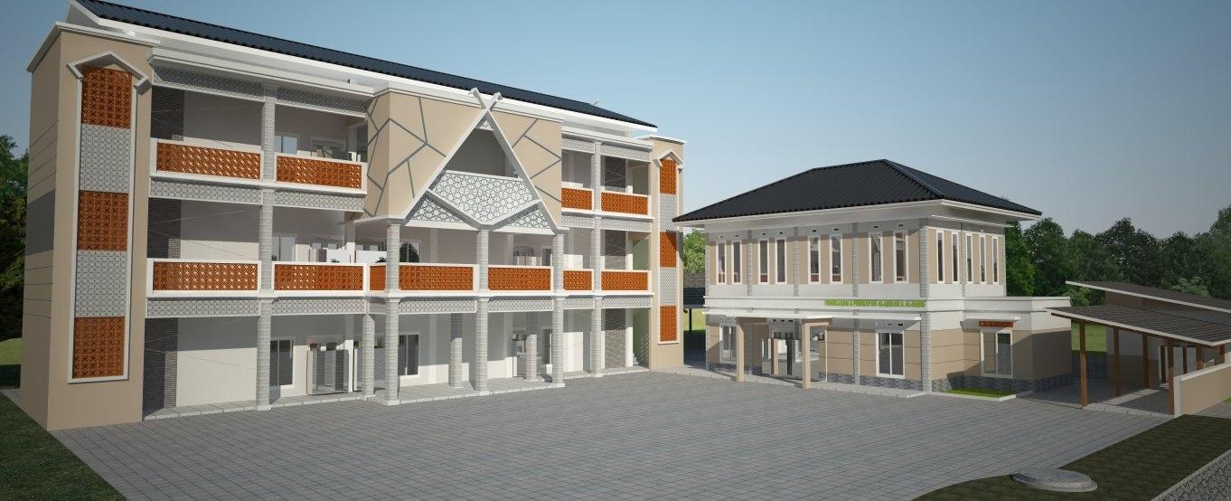 3D school building