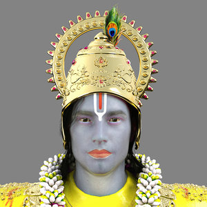 lord krishna 3D