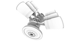 motor engine 3D model