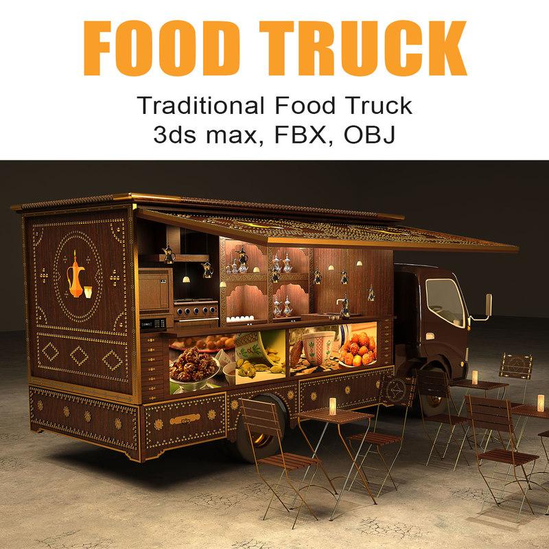 portable food truck 3D