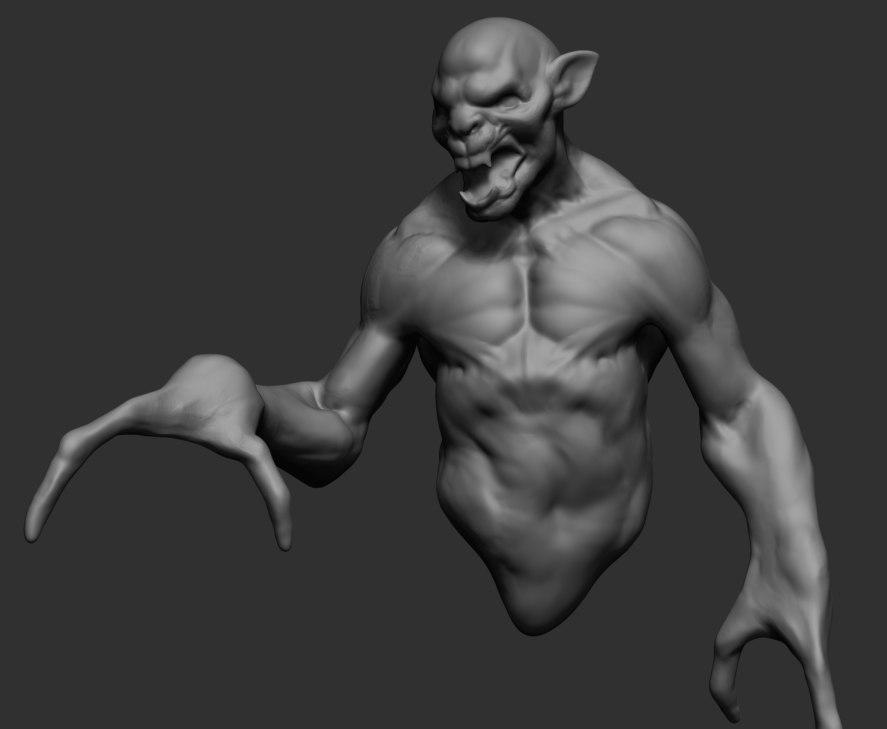 Free creature ztl zbrush 3D model - TurboSquid 1272702
