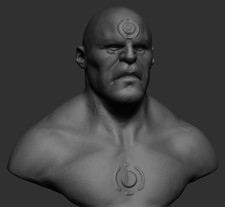 3D character bust