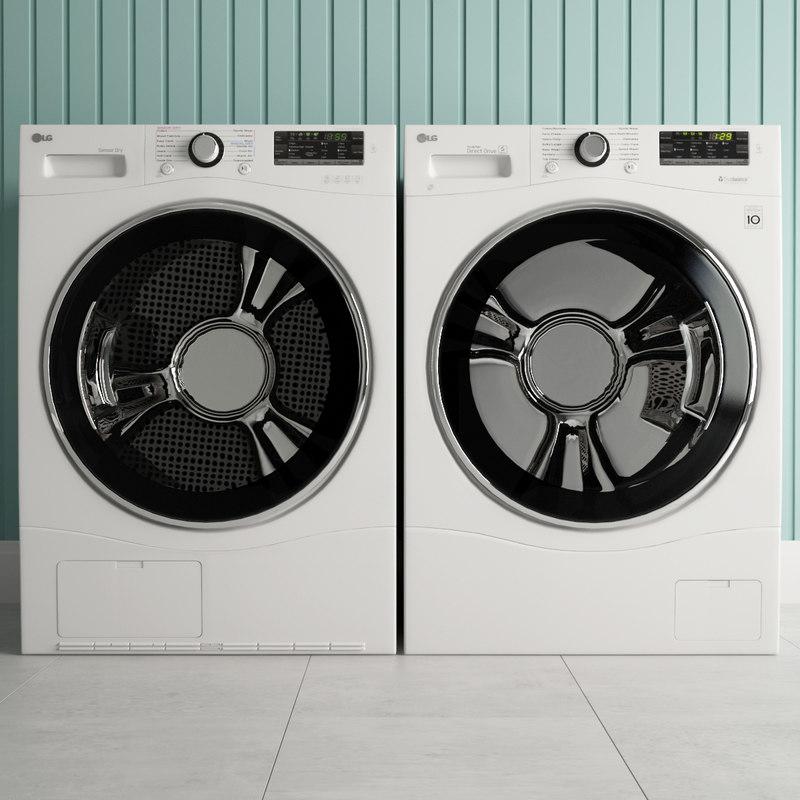 3D lg appliance model