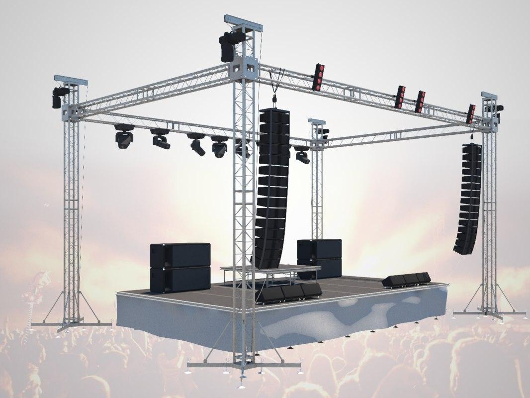 concerte stage 3D model