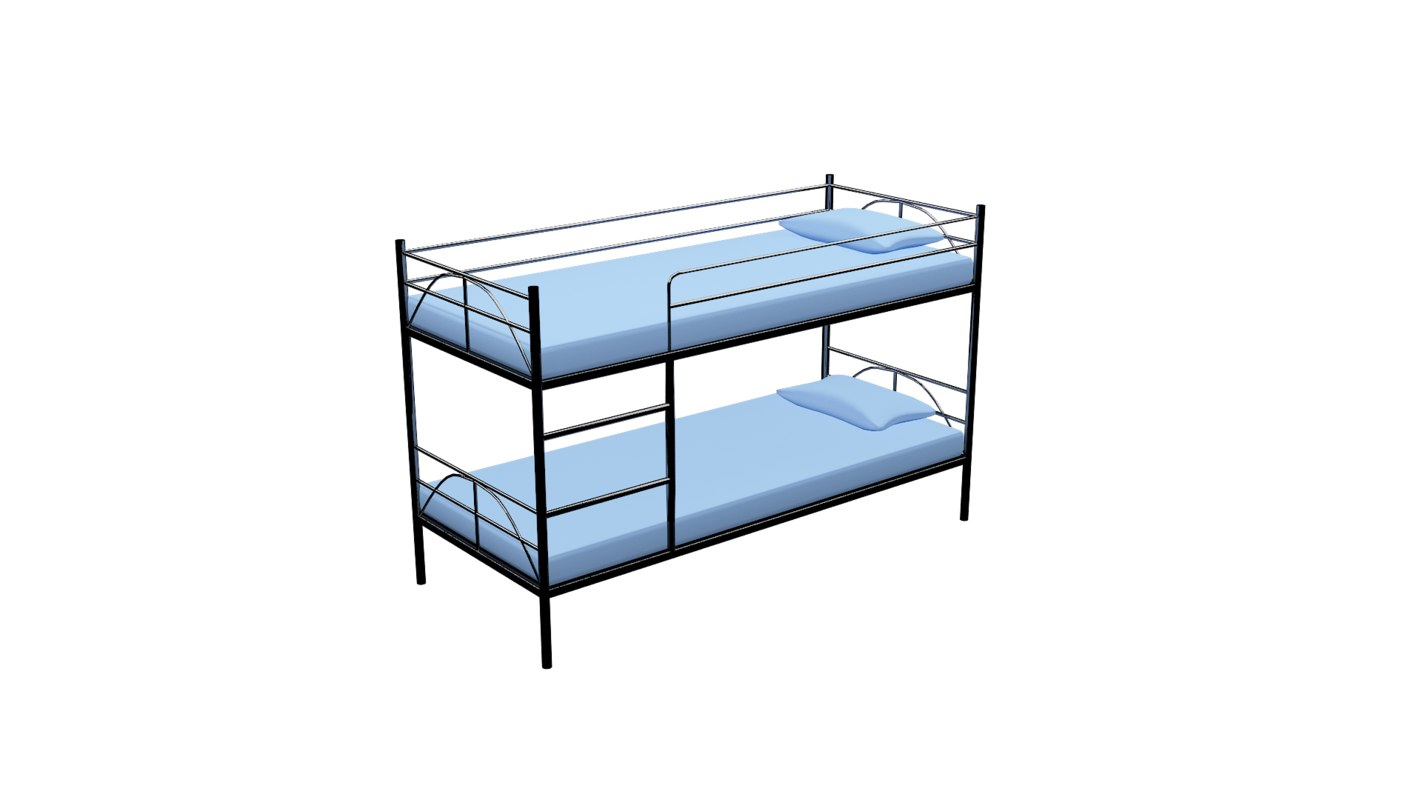 3D model twin bed