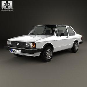volkswagen jetta 1979 3D model