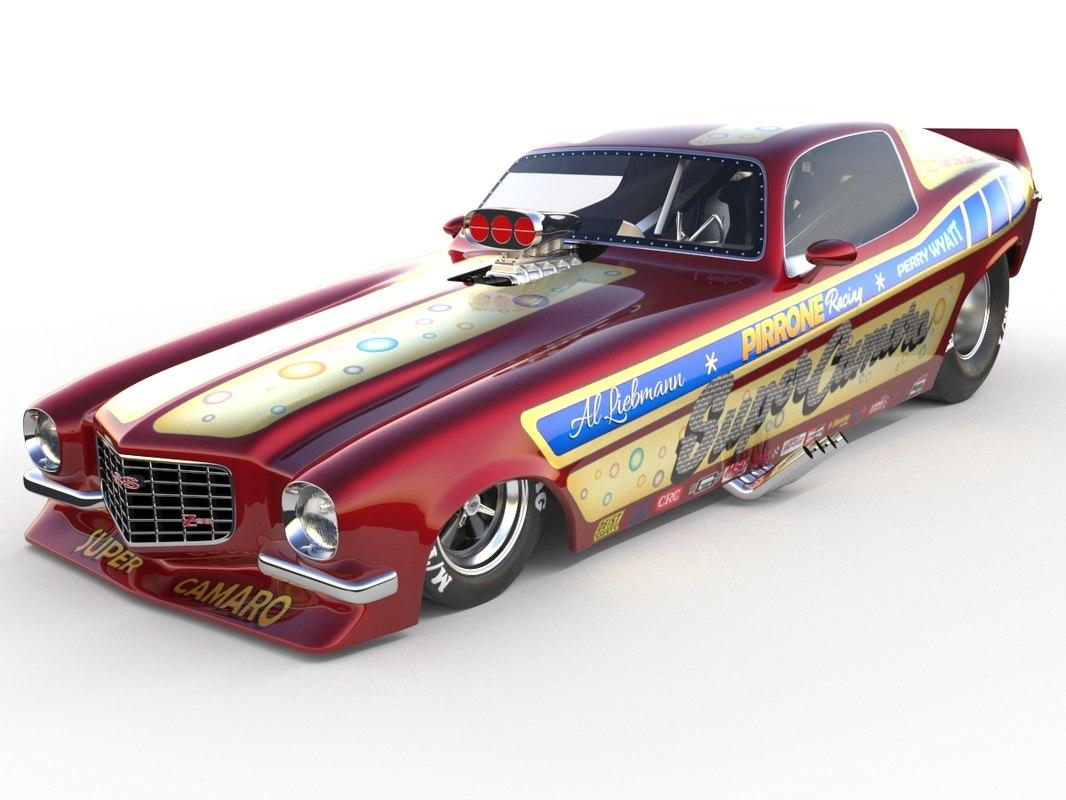 super camaro funny car 3D model