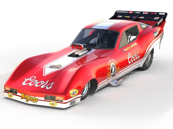 3D corvette funny car model