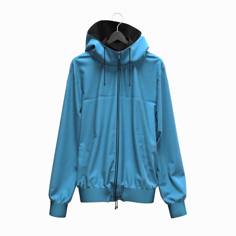 realistic jacket sport 3D model