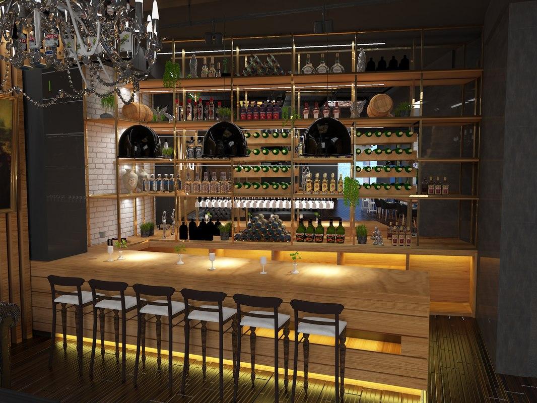 bar pub cafe 3D