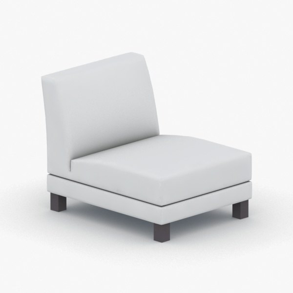 3D - armchairs chairs model