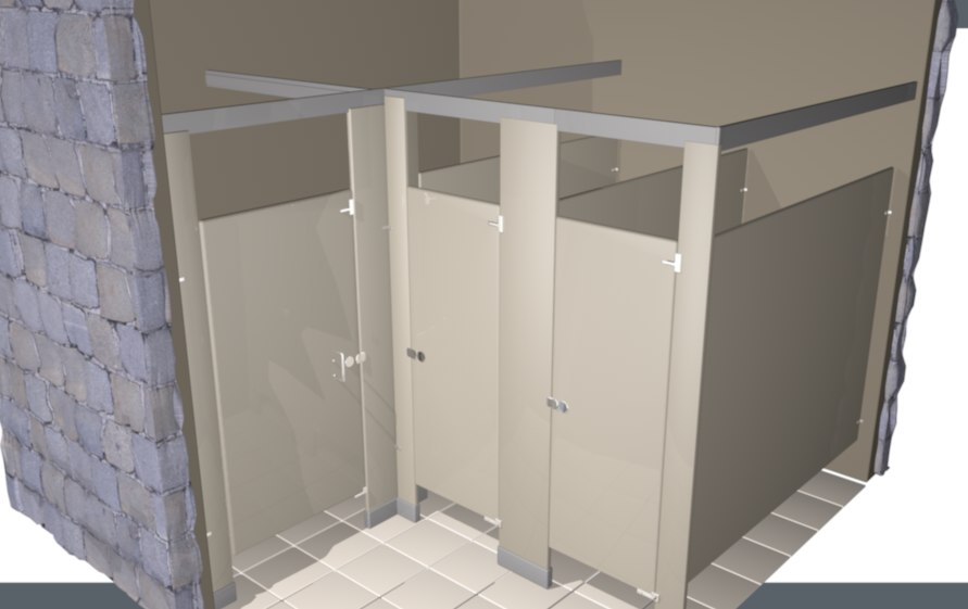 3D toilet partition