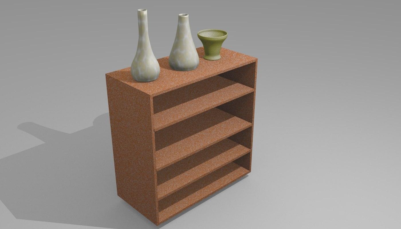 3D shoe vases