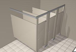 3D toilet partition model