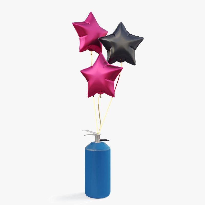 3D model balloon star