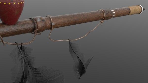 smoke indian pipe 3D model