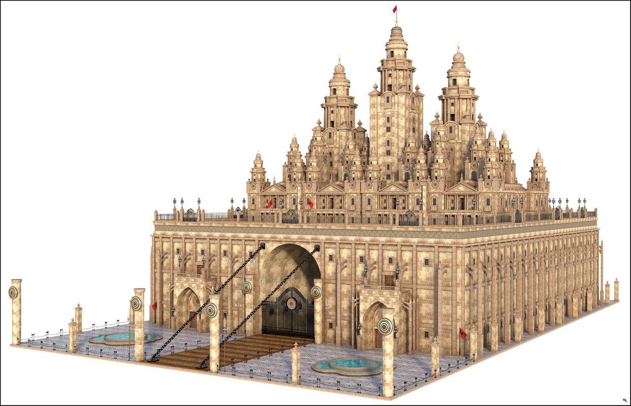 castle fantasy 3D model