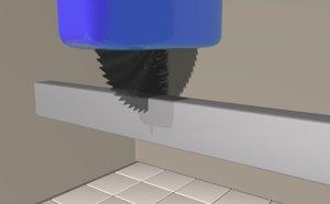 3D saw blade cut