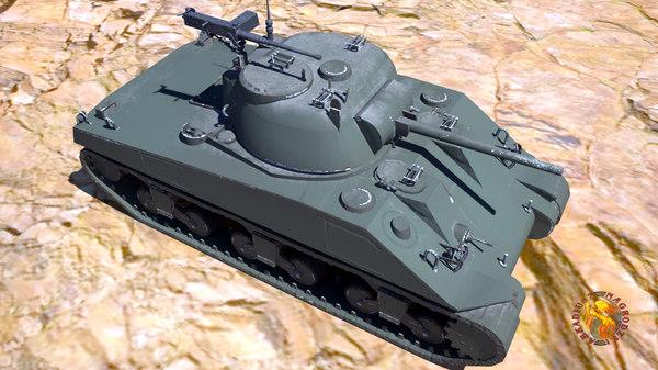 3D tank m4 sherman