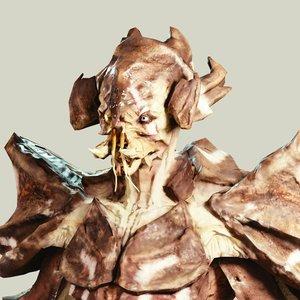 crab alien 3D model