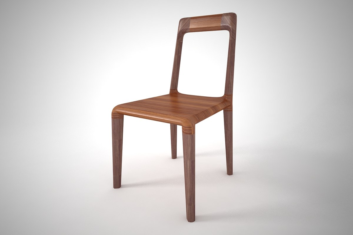 3D model furnishing dinning chair