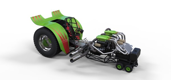 tractor pulling 3D