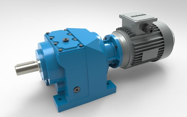 helical gear reducer 3D