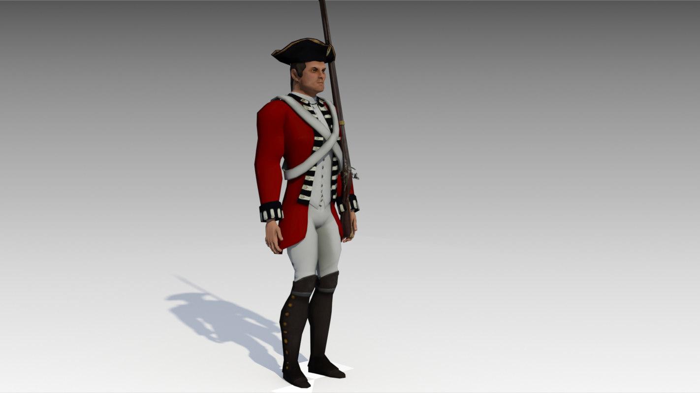 british redcoat soldier 3D model