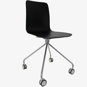 designer chair wheels 3D model