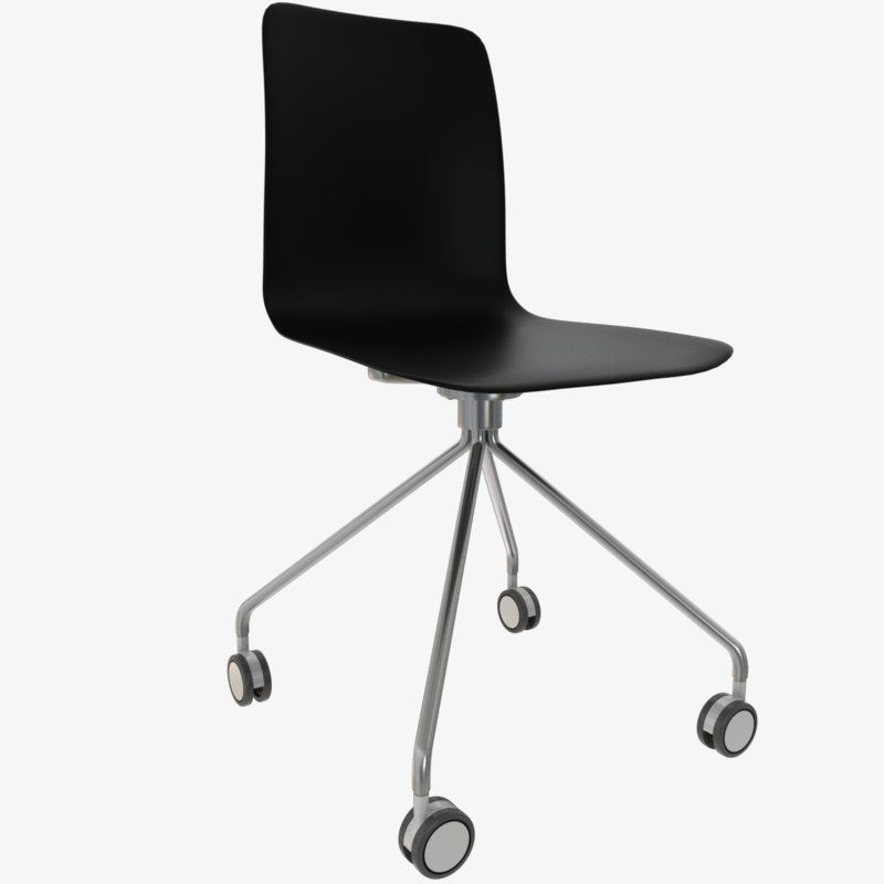 designer chair wheels 3D model