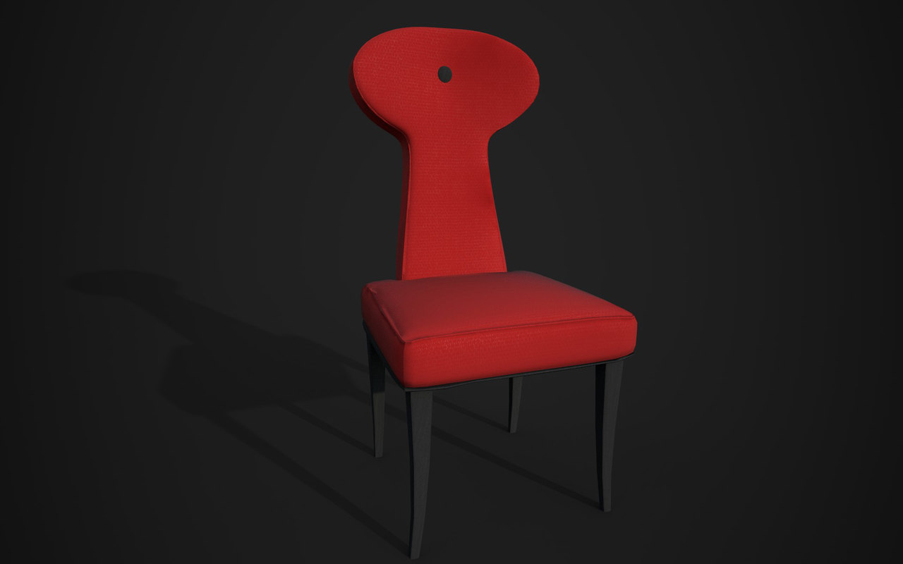 realistic chair ready 3D model