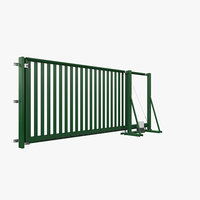 Sliding gate with grid