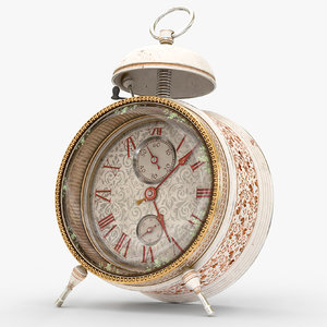 alarm clock animation 3D model
