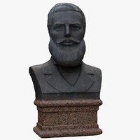 hristo botev bust 3D