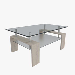 allora coffee table 3D model
