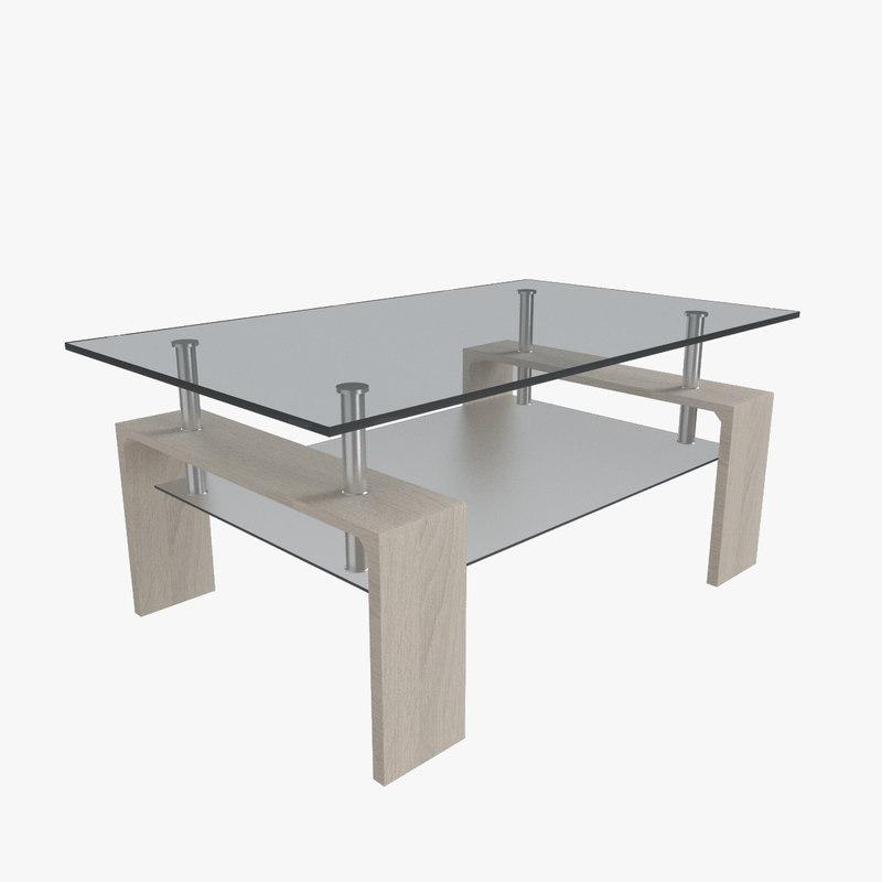 allora coffee table 3D model