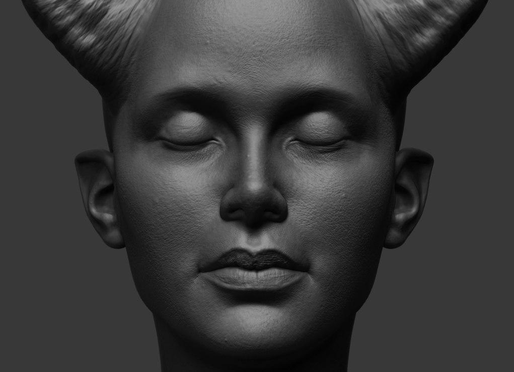 3D sami bust model
