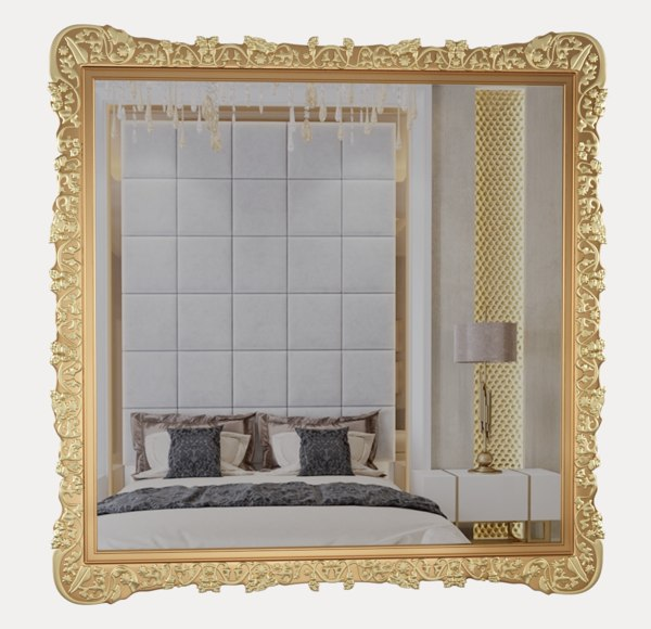 gold mirror classical 3D model